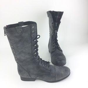 NWOT Steve Madden Girl Women 9 Black Flannel Boots